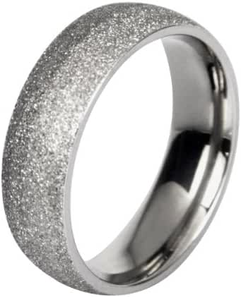 Stainless Steel Sparkle Finish Women Ring Band