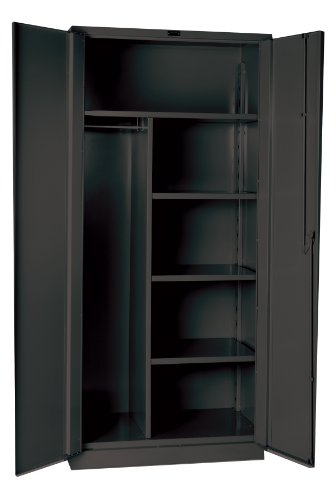 (Hallowell HW4CC8478-4CL Gray Steel DuraTough Classic All Welded Extra Heavy Duty 14 Gauge Combination Cabinet, Assembled, 48