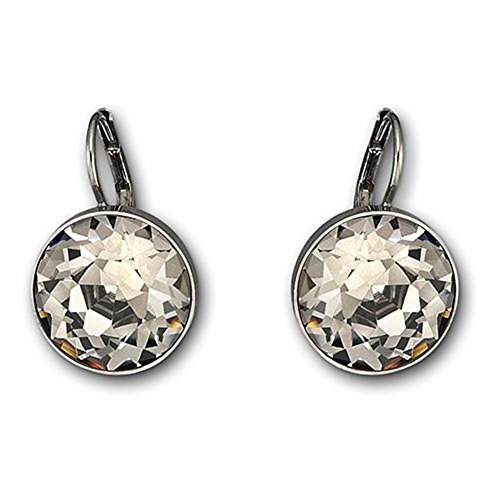 Earrings Bella Swarovski Pierced (Swarovski Crystal Black Crystal Bella Pierced Earrings)