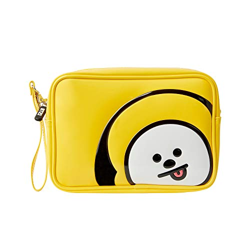 BT21 Official Merchandise by Line Friends - CHIMMY Enamel Cosmetic Bag Travel Pouch for Toiletry and ()