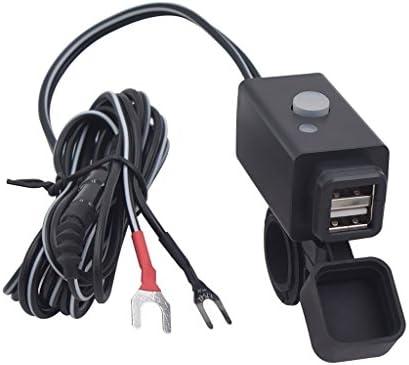 YGL Impermeable Cargador USB de Motocicleta con Interruptor de ...