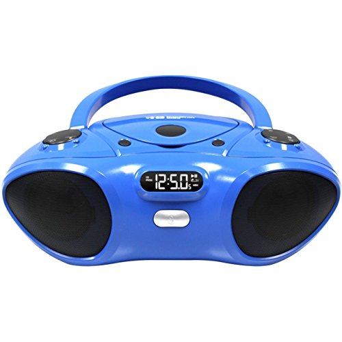 Boom Box CD/FM Media Player with Bluetooth Receiver by Hamilton