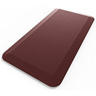Royal Anti-Fatigue Comfort Mat - Multi Surface All-Purpose Luxurious Comfort - For Kitchen, Bathroom or Workstations - Beautiful Burgundy Color - 20 x 39