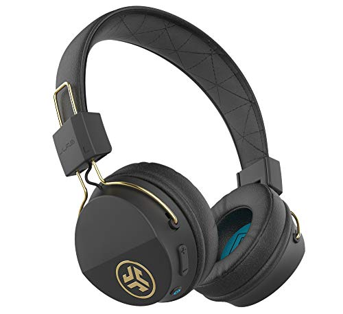 JLab Audio Studio ICON Bluetooth Wireless On-Ear Headphones | Ultra-Plush Cushions | Wireless Headphones | 13 Hour Bluetooth Playtime | 40mm Neodymium Drivers | Track Control | Microphone | Black Gold