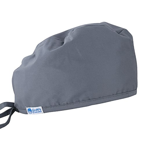 Gray Scrub Cap - GUOER Women's and Men's Scrub Cap Scrub Hat One Size Multiple Color (Gray)