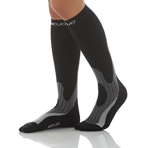 a2b0808ae7 Mojo Endurance Dress Compression Socks – Thick Cushioned Terry Foot and  Heel - Medical Graduated Support Socks for ...