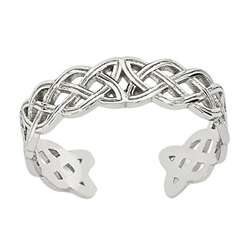 Ring Celtic 14k Toe (Lex & Lu 14k White Gold Celtic Knot Toe Ring)