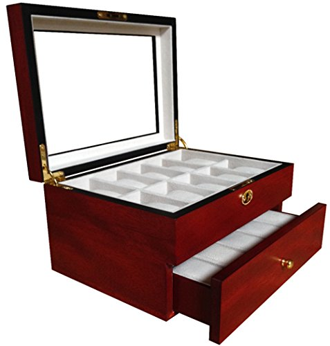 watch display case red - 2