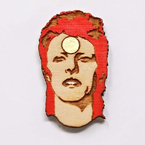 Rockstar Lapel Pin | Hand Painted Wood Brooch