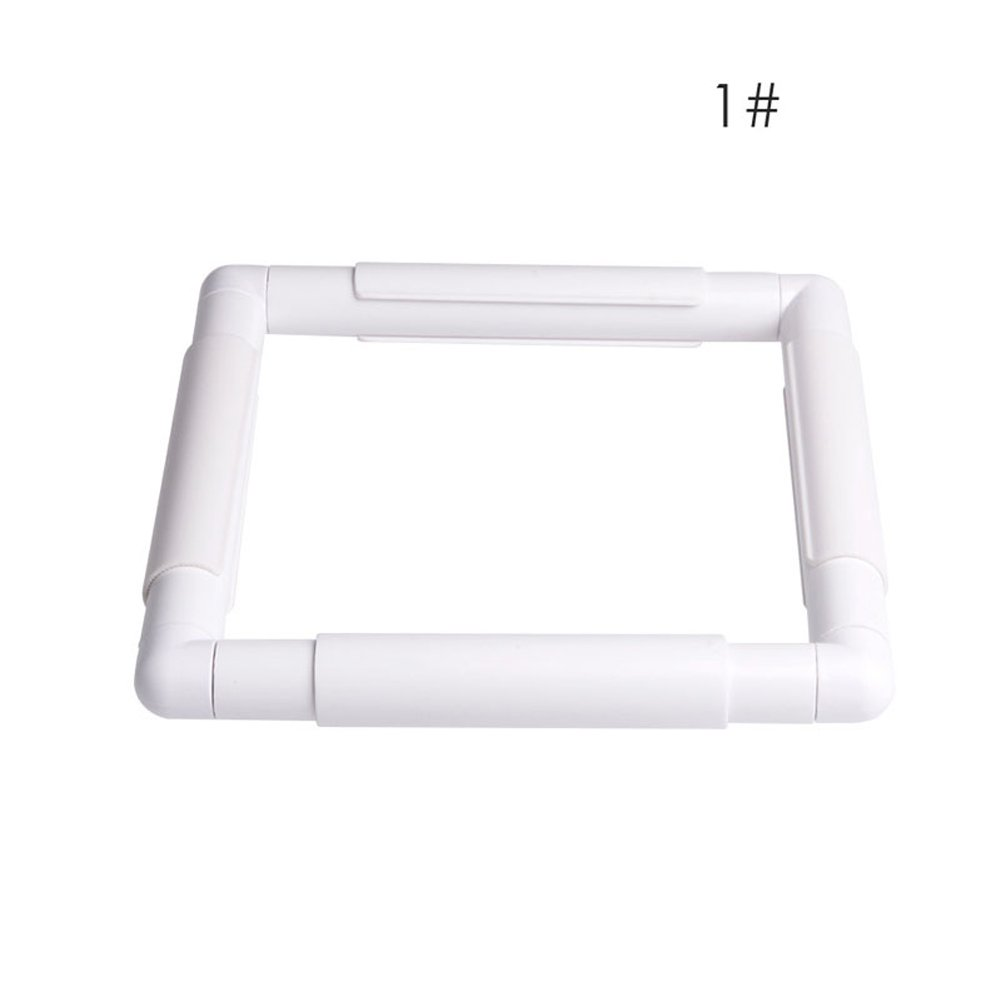 Dairyshop Square Rectangle Clip Plastic Embroidery Frame Cross Stitch Hoop Stand Lap Tool