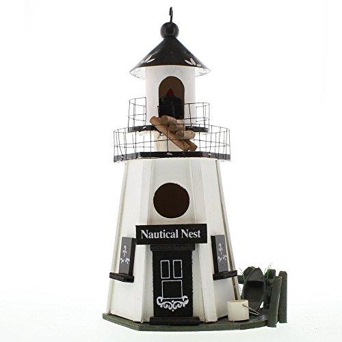 Diy Nautical Decor (Outdoor Birdhouse Wooden Nautical Design Hanging Gazebo Lighthouse Decor DIY Kit for Kids Garden Ornament Patio)
