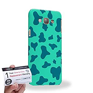 Case88 [Samsung Galaxy A8] 3D impresa Carcasa/Funda dura para & Tarjeta de garantía - Art Fashion Aqua Leopard Multi Colored Animal