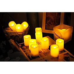 Homemory 6PCS Flameless LED Votive Candles with Ti