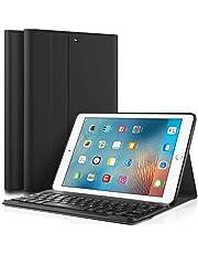 Risonix Funda con Teclado Bluetooth para iPad 2018/2017, 2018 Nuevo 9.7 Pulgadas, Funda de Teclado de Cuero Diseñada para iPad Air/iPad Air 2/ iPad Pro