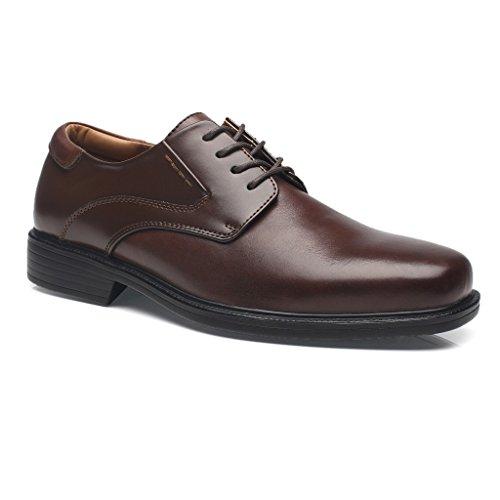 La Milano Wijde Breedte Heren Oxford Schoenen Heren Dress Schoenen Wide-2a-brown