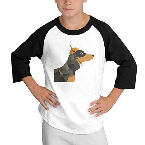 multy9-cartoon-dachshund-dog-child-youth-3-4-baseball-tee-small
