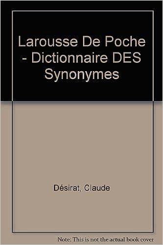 Lire en ligne DICTIONNAIRE DES SYNONYMES pdf