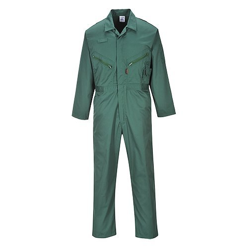 - Portwest Mens Liverpool Zip Up Protective Workwear Coverall (Large x Regular) (Bottle Green)