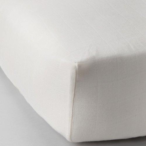 Natural (Unbleached) Muslin Crib Sheet - Organic Cotton