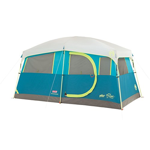 Coleman Tenaya Lake Fast Pitch Cabin Tent with Cabinets, - Set Alder Cabinet