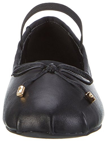 Buffalo London 216-6144 Sheep Leather, Bailarinas Para Mujer Negro (Black 01)