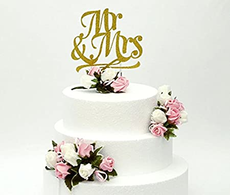 Fine Lissielou Mr And Mrs Cake Topper And Wedding Cake Flowers Set Of Personalised Birthday Cards Paralily Jamesorg