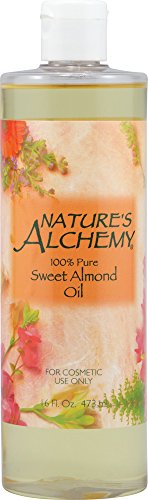 Nature's Alchemy Sweet Almond Oil, 100% Pure, 16 fl oz (473 ml)