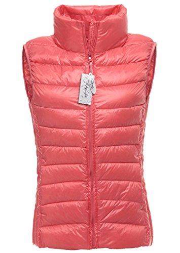 in Puffer Pink Jacket Down Womens Topgraph Vest Lightweight Coat Pink Packable WX8nqAv