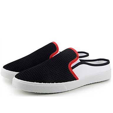 Zapatos de hombre exterior / oficina / Carrera / Athletic / vestido de tul zuecos & Mulas negro / azul / gris Negro