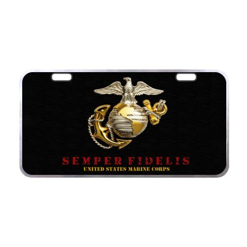 US Marine Corps Novelty Aluminum Front License Plate Car Tag, Plates Tags 11.8'' X 6.1'' by US Marine Corps License Plate