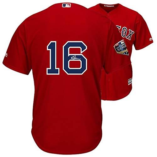 ANDREW BENINTENDI Autographed Boston Red Sox 2018 MLB World Series Champions Majestic Red Replica World Series Jersey FANATICS ()
