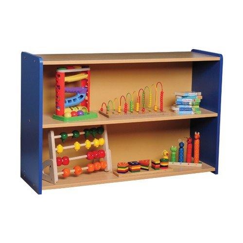 Color Coordinated Blue Standard Two Shelf Storage