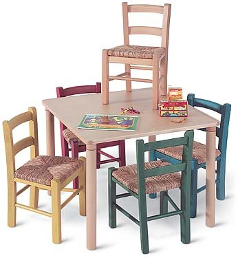 Linon Red Baby Pizon Chair with Rush Seat