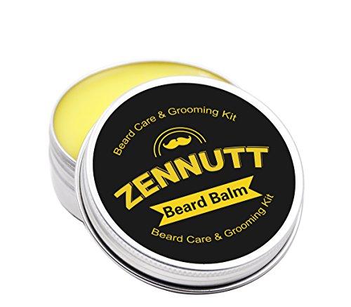 ZenNutt Beard Butter Balm Leave in Conditioner for Men 100% Natural Organic Unscented Dry Bearded Oil Softener Moisturizer 2 oz