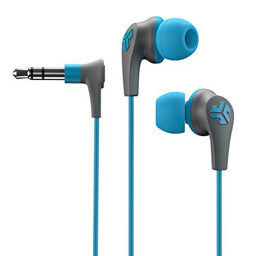 JLab Audio JBuds2 Premium in-ear Earbuds Guaranteed Fit, GUARANTEED FOR LIFE - Blue
