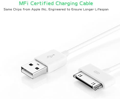 BONAI Cable USB para iPhone 4S / 4, 30-pin USB Cable de Datos Cargador para iPhone 3GS, iphone 3/ 2/ 1, iPod nano / iPod touch y los Modelos ...