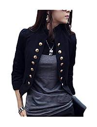 BLTR Women Victorian Double-Breasted Vintage Steampunk Blazer Coat