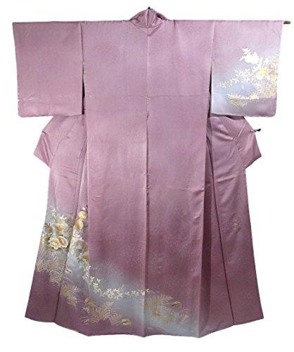 インディカためらう無しリサイクル 着物 訪問着 和田光正 四季花文様 正絹 袷 裄67.5cm 身丈166cm