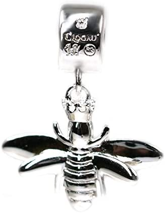 Clogau Womens Silver and 9ct Rose Welsh Gold Queen Bee Dangle Milestones Bead Charm