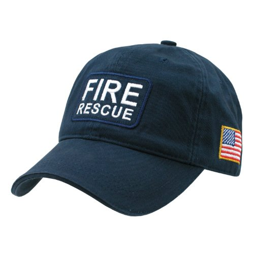 Rapid Dominance Genuine Dual Flag Raid Caps Baseball Hat (Adjustable , US FIRE RESCUE) (Fire Hat Rescue)