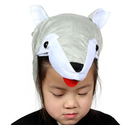 Goodscene Party decoration accessories Cute Kids Performance Accessories Cartoon Animal Hat (Wolf) by Goodscene