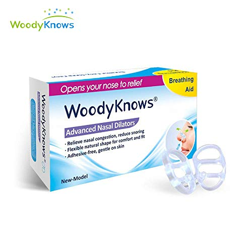 WoodyKnows Anti-Snoring Advanced Nasal Dilators Nose Vents to Ease Snoring and Breathing - Good Alternatives to Nasal Strips Chin Strap Jaw Strap Supporter (S)