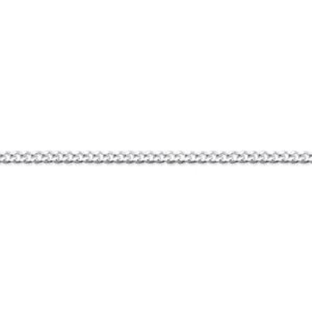 So Chic Jewels 925 Sterling Silver 38 cm Diamond Cut 1 mm Chain Necklace
