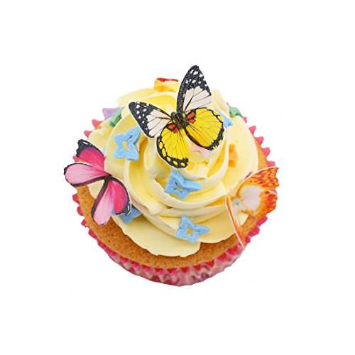Cake Art Black Edible Colour : Edible Toppers For Cupcakeslike butterflies are completely edible