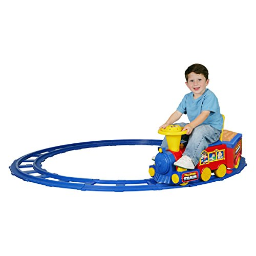 Kid Motorz Talking Train Battery Powered Riding Toy, Includeds Train, Train Track, 6V Battery, Battery Charger