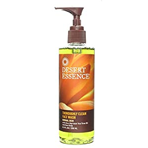 Desert Essence Thoroughly Clean Face Wash Tea Tree Oil and Sea Kelp 8.5oz