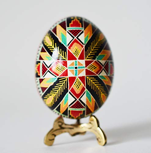 Easter gift Decorative egg shell with cross, home decor religious gifts