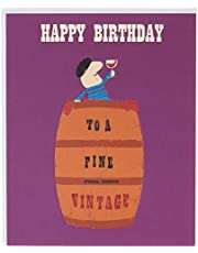 The Art File Happy Birthday to a Fine Vintage Card, Purple & Brown