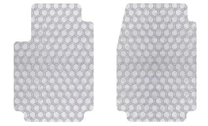 Set of 2 DD-390-RT-G Intro-Tech Hexomat Front Custom Fit Auto Floor Mat - Gray