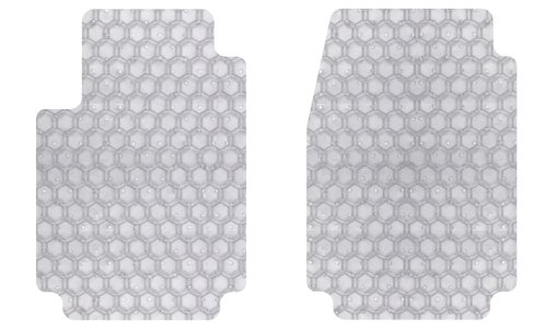 intro-tech Hexomatフロントカスタムフィット自動床マット – クリア、2のセット B00GU1PEKY